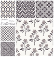 patterns collection Set of seamless floral vector image