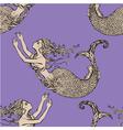 mermaid seamless 2 380 vector image vector image