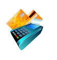 credit card reader vector image vector image