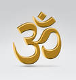 Golden om sign vector
