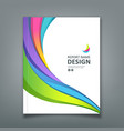 cover report colorful paper curve design vector image