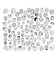 Drawing of face with many emotion vector image