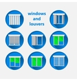Flat icons for windows and louvers vector image