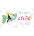 Hawaiian party banner template vector image