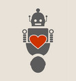 human and robot relationships vector image