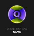 letter q logo symbol in the colorful circle vector image
