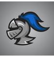 medieval knight helmet Sport mascot vector image