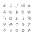 Simple set of games related line icons vector image