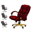 Office executive leather desk chair vector image