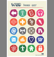 Internet icons set drawn by chalk vector image vector image