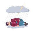 man in depression concept sad and depressed guy vector image