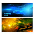 search radar horizontal banners vector image