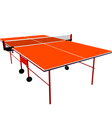 Ping pong orange table tennis vector image vector image