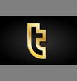 t gold golden letter logo icon design vector image