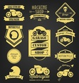 Motorcycle premium vintage label vector image