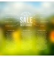 Sales infographics vector image vector image