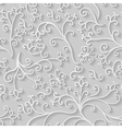 floral flat pattern vector image vector image