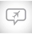 Plane grey message icon vector image vector image