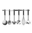 Kitchen utensils isolated on white vector image vector image