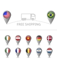 Free shipping map vector image