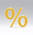 golden percent symbol vector image vector image