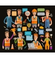 Builder or construction repair icons set vector image