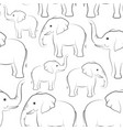 elephants contours seamless vector image