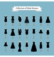 Little black dresses vector image