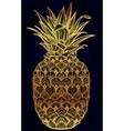 Ornate pineapple fruit vector image