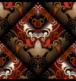 paisleys seamless pattern dark red floral vector image