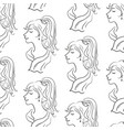 seamless pattern women contours vector image