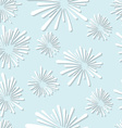 Seamless white abstract floral element pattern vector image