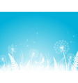 Silhouettes of Dandelion vector image