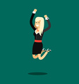 Business woman in black costume vector image