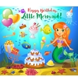 Cute birthday design elements vector image