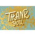 Gold leaf boho chic style thank you greeting card vector image