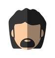 people face man with mustache icon image vector image
