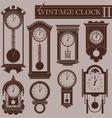 Vintage clock II vector image vector image