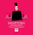 Worldwide Shopping Tourist vector image
