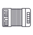 Accordion line icon sign on vector image