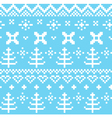 Winter Norwegian seamless knitting pattern - blue vector image vector image