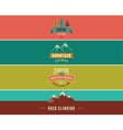 Hiking camp banners backgrounds and elements vector image vector image