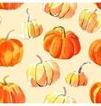 Watercolor halloween of pumpkins vector image