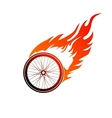 Burning symbol of a bicycle wheel vector image