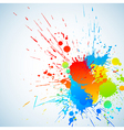 colorful ink vector image