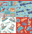 cute surf seamless pattern collection vector image