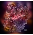 doodles musical art paint background vector image