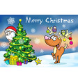 Merry Christmas greeting card santa claus hidden vector image