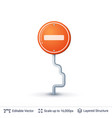 no entry road sign vector image