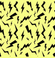 seamless high voltage pattern on yellow background vector image